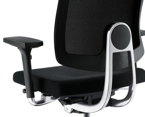Swing Up ergonoomiline töötool polsterdatud seljatoega