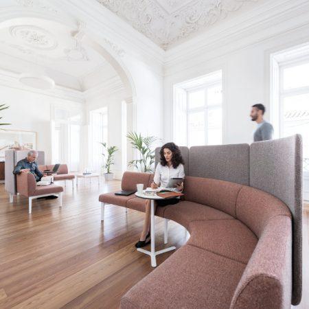 Se:works moodulmööbel loenge kohvik avalik ruum Ergonomik Sedus