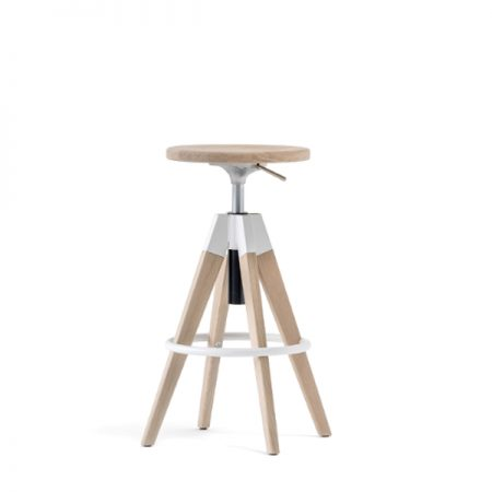 Pedrali Arki-Stool baaripukk pukk puidust puit Ergonomik Itaalia disain